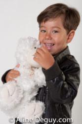 Aïda & Elyes-séance studio-famille-portrait d'enfant