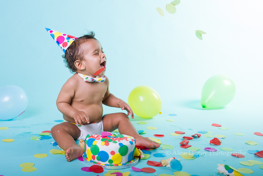 smash the cake, anniversaire, photo, studio, aline deguy, bébé