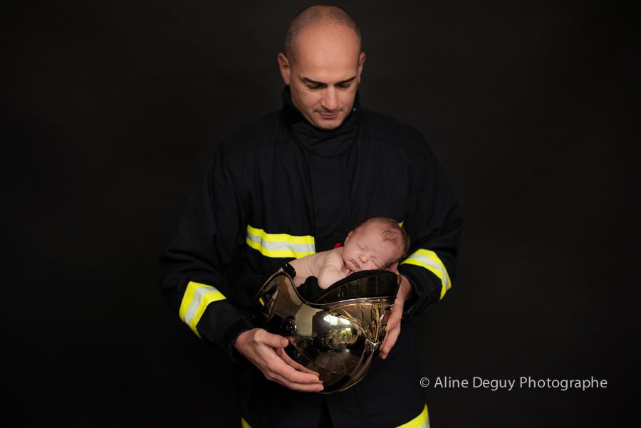 pompier, Paris, Photo, Photographe professionelle, Studio, Bébé, Naissance
