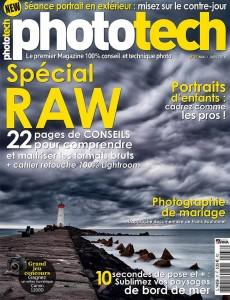Publication presse magazine – Phototech – Article portrait de pro Aline Deguy Photographe