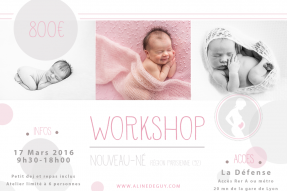 photographe - Aline Deguy- Workshop - Paris - newborn posing - nouveau-né