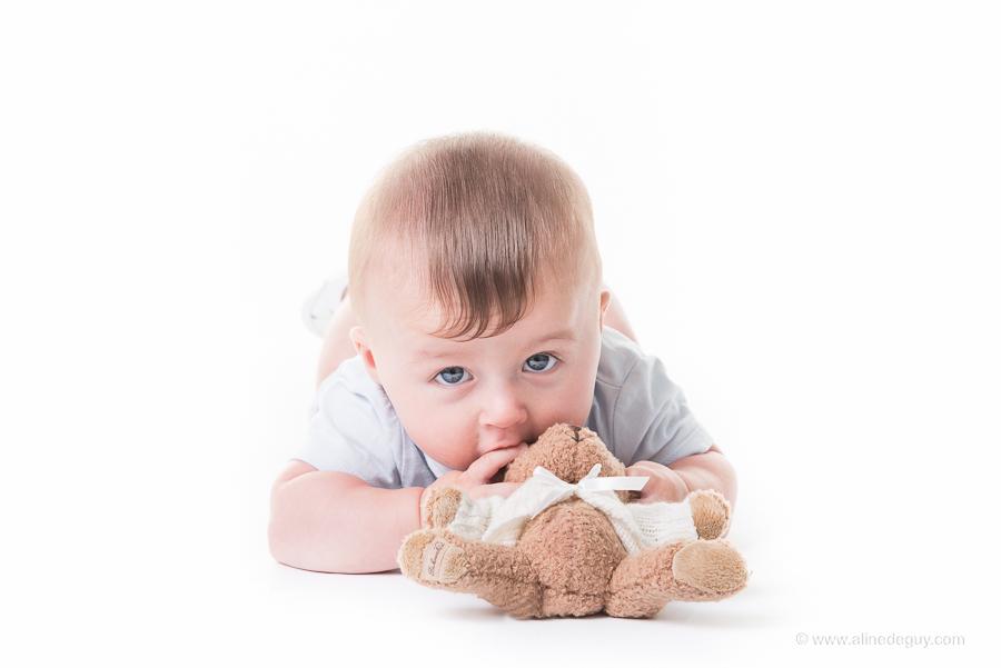 photo bébé, doudou, pub