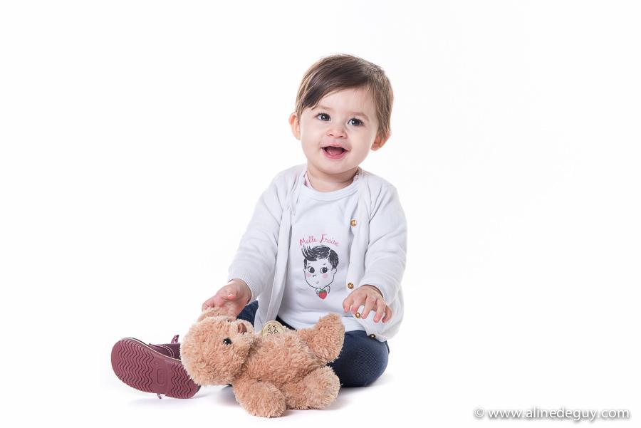 photographe famille studio, portrait bébé