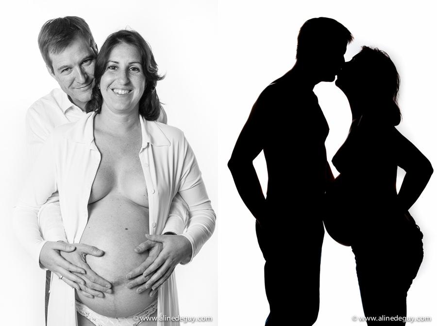 photographe couple studio paris, photos noir et blanc couple, paris 16