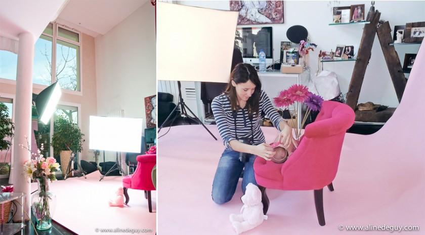 studio aline deguy, coulisse séance bébé, newborn