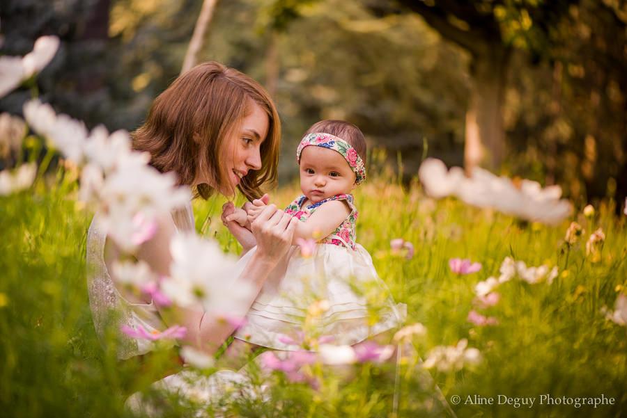 photographe famille 92, boulogne, aline deguy, photo mère-fille, photo bébé