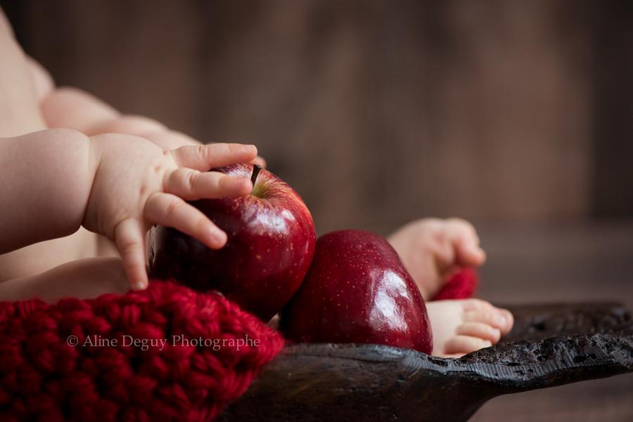 photo bebe, pomme, santé, blog, grossesse, naissance, Aline Deguy, Photographe