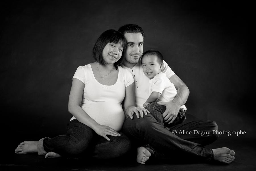 photographe, grossesse, famille