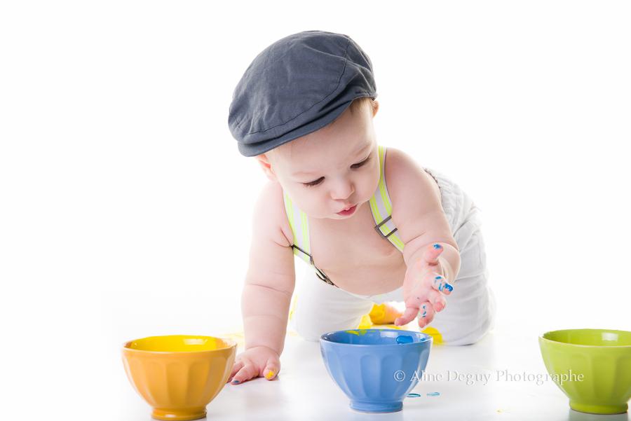 découverte peinture, enfant, bébé, éveil, jeux, photographe, pub, corporate