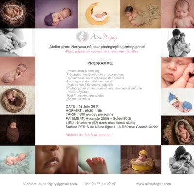 atelier photo, workshop, France, photographe nouveau-né, bébé, Paris, Aline Deguy, Studio