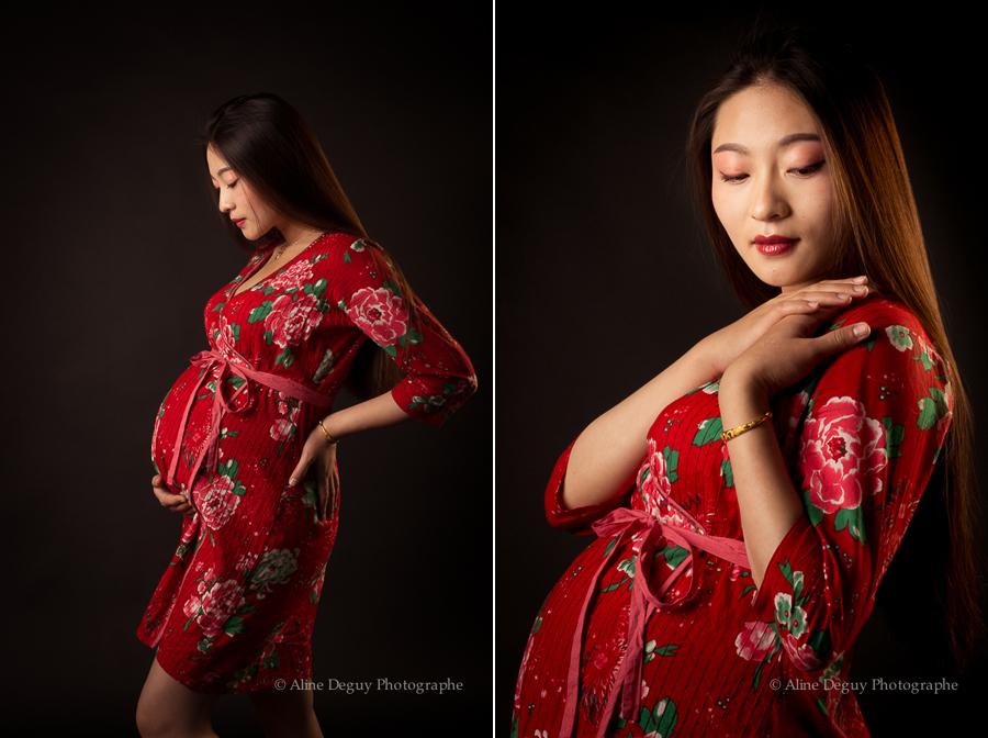 Photographe professionnelle, portrait, Paris, Studio, Aline Deguy, Grossesse, femme enceinte