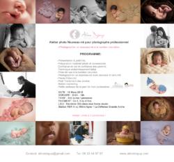 Formation photographie Nouveau-né 19 Mars 2015- Studio – Aline Deguy Photographe