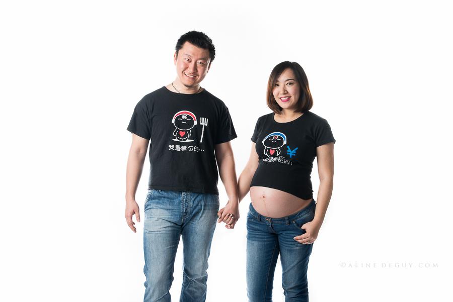 Photographe couple, famille, asiatique, tee shirt couple, Chine, séance photo