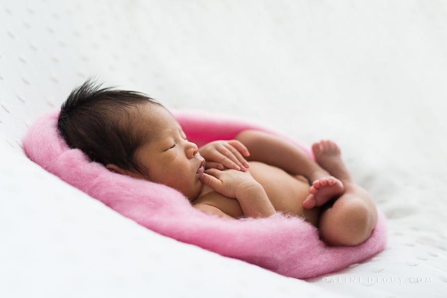 Photographe, bébé, naissance, asiatique, Aline Deguy
