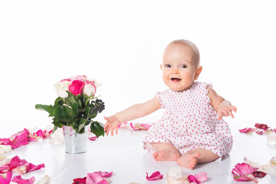 prénom Rose, bébé, Séance photo en studio, shooting, studio de photo à Paris