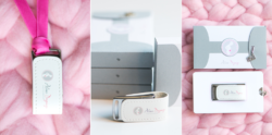 Packaging clé USB – Photographe bébé Paris