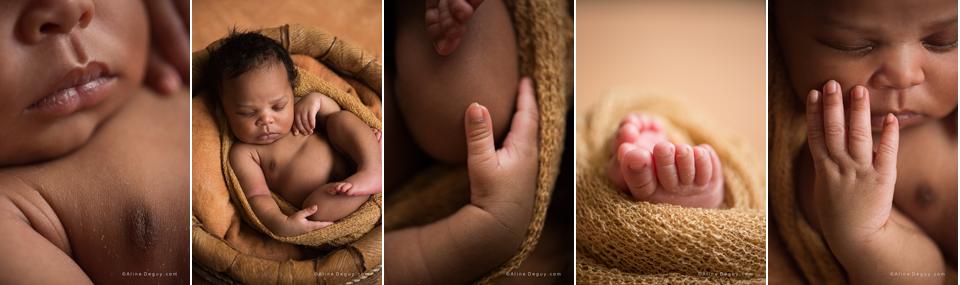 Newborn posing, photo de détail bébé