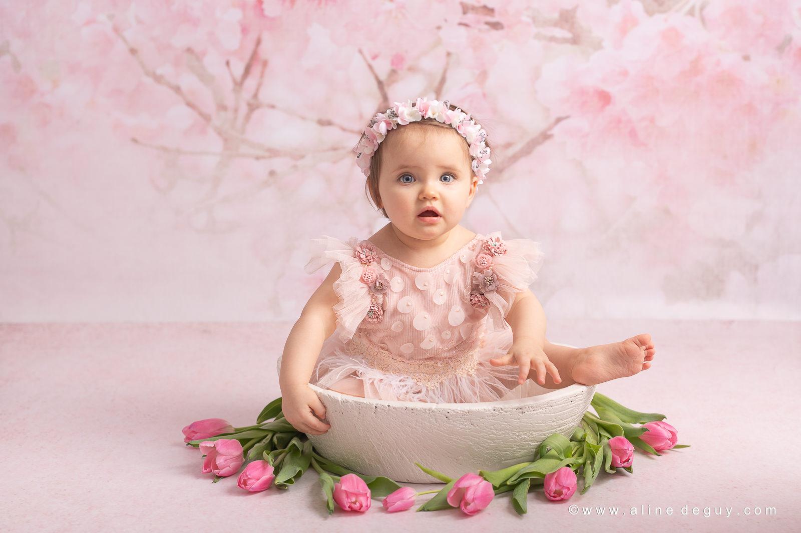 photographe bébé studio photo, prénom Jade, photographe bébé nanterre